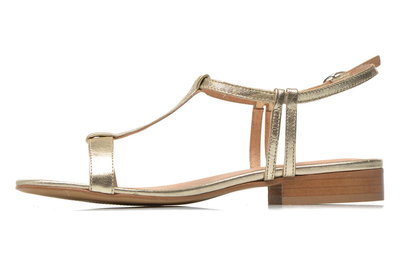 Sandales et nu-pieds Georgia Rose Etata Or et bronze vue face