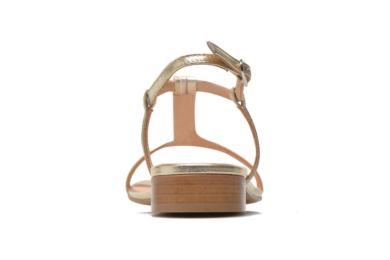 Sandales et nu-pieds Georgia Rose Etata Or et bronze vue droite