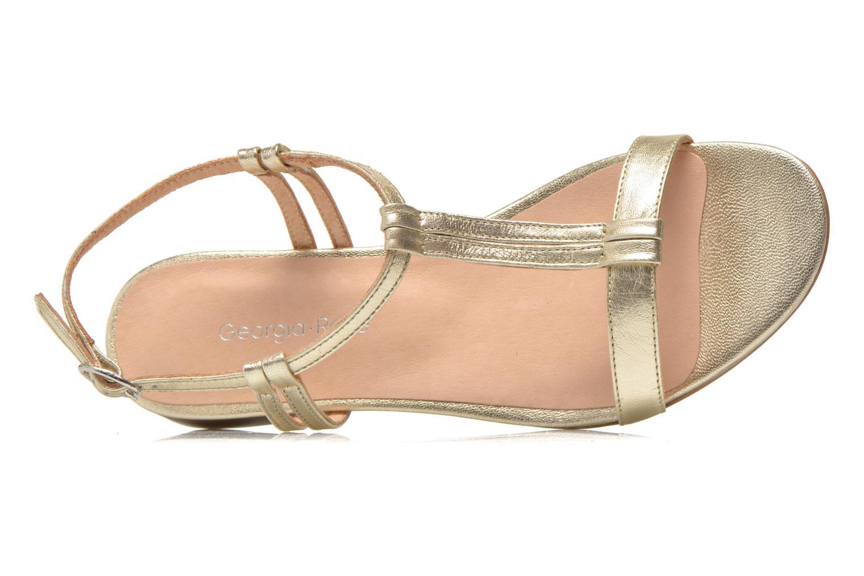 Sandales et nu-pieds Georgia Rose Etata Or et bronze vue gauche