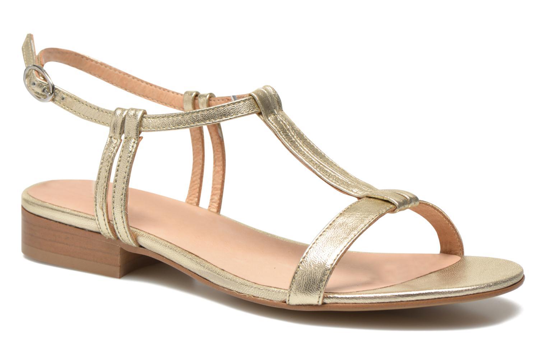 Sandales et nu-pieds Georgia Rose Etata Or et bronze vue détail/paire