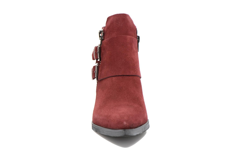 Stivaletti e tronchetti Bronx Red 2 Bordò modello indossato