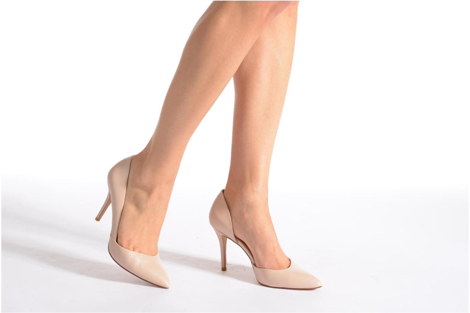 High heels What For Maney Pink view from underneath / model view