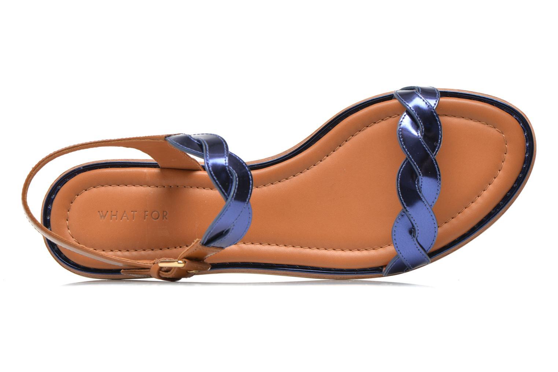 Sandalen What For Julian blau ansicht von links