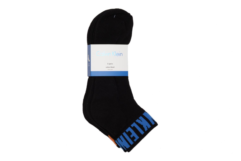 Chaussettes et collants Calvin Klein Lot de 3 paires de Chaussettes Courtes Logo Underwear Noir vue droite
