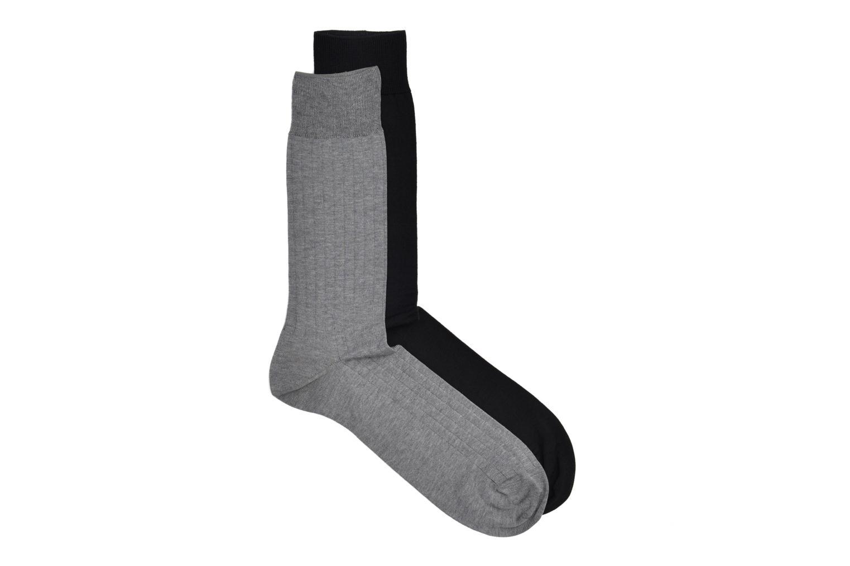 Chaussettes fils d'écosse Pack de 2 Gris