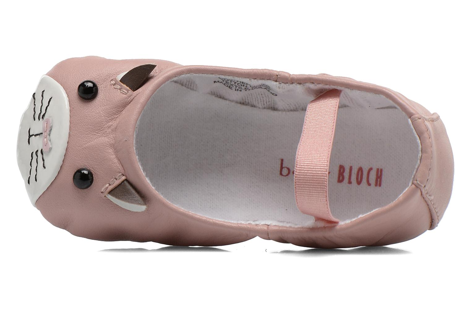 Ballet pumps Bloch Toddler Hamster Pink view from the left