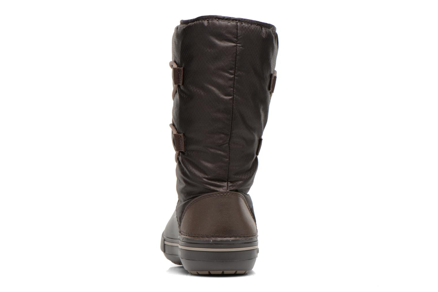 Ankle boots Crocs Crocband II.5 Cinch Boot W Brown view from the right