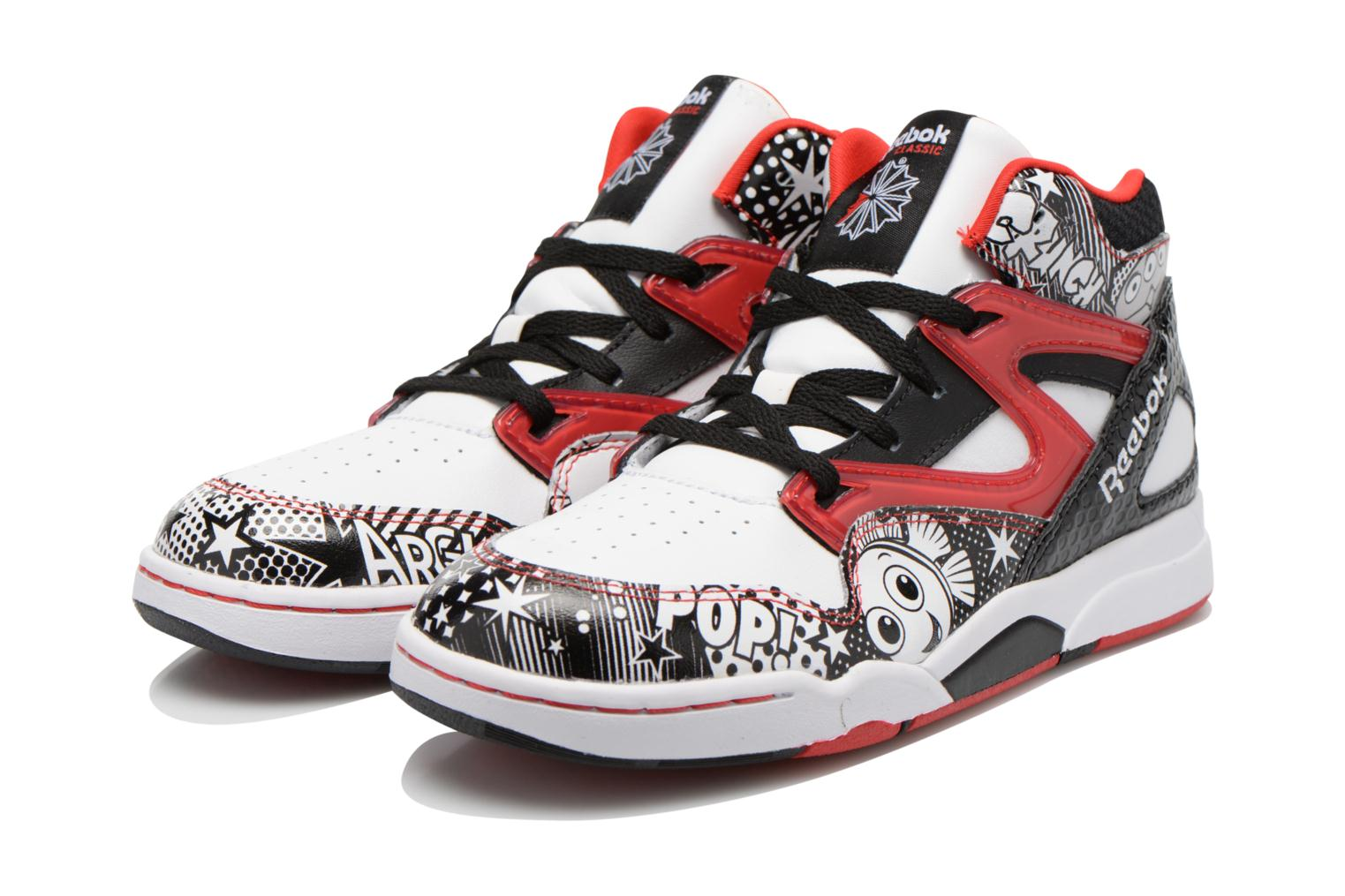 Trainers Reebok Pixar Pump Omni Jr White 3/4 view