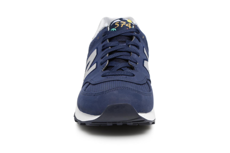Sneaker New Balance ML574 D blau schuhe getragen