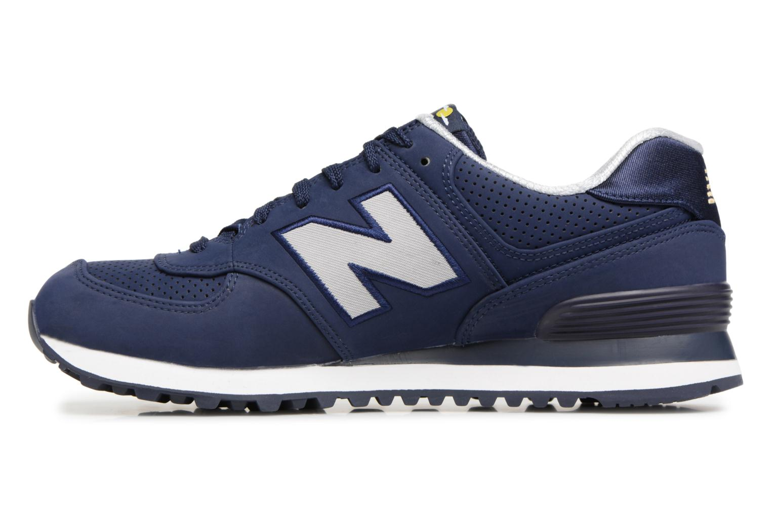 Baskets New Balance ML574 D Bleu vue face