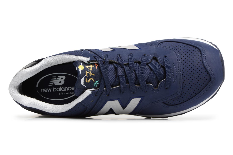 Deportivas New Balance ML574 D Azul vista lateral izquierda