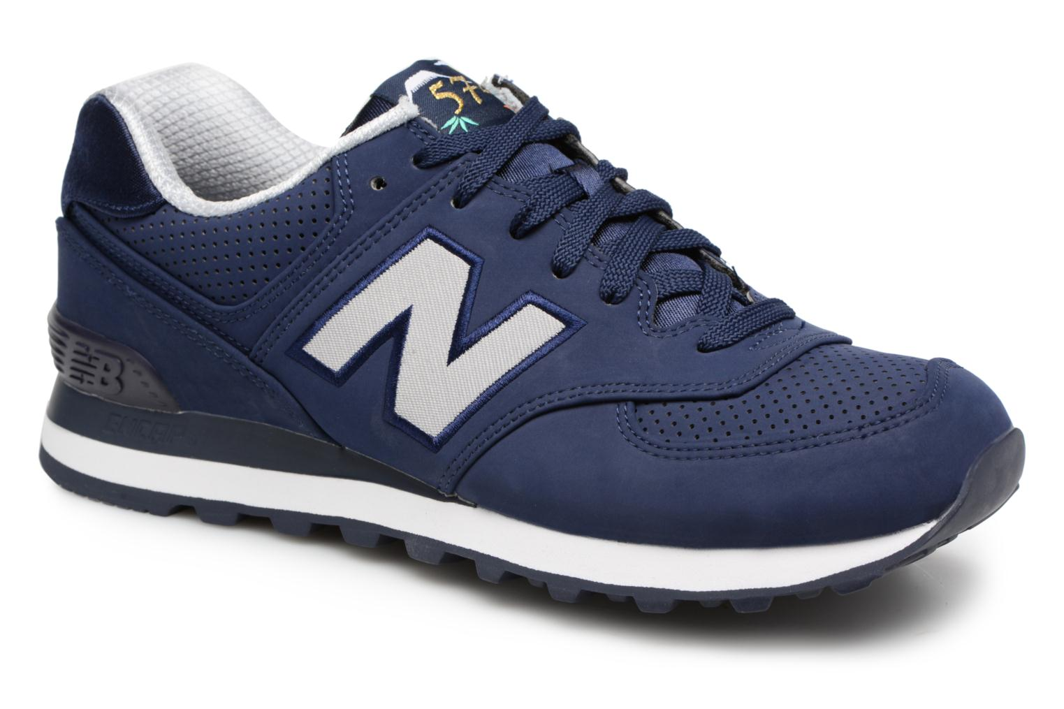 Trainers New Balance ML574 D Blue detailed view/ Pair view