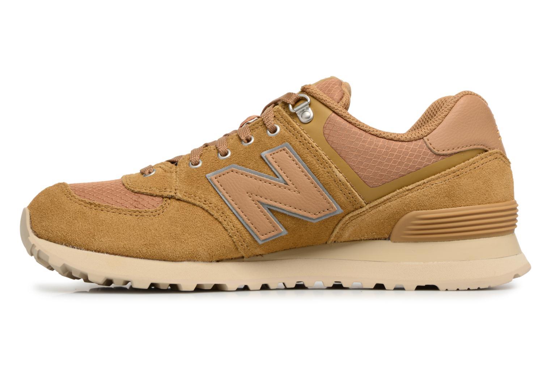 Sneakers New Balance ML574 D Beige voorkant