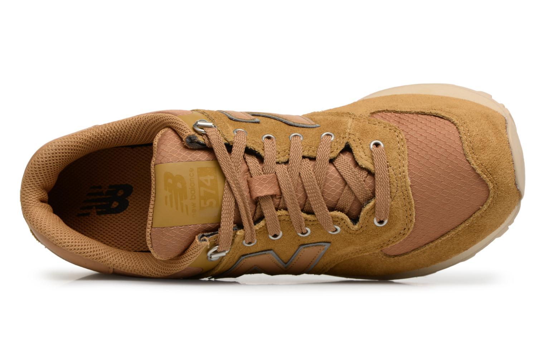 Sneaker New Balance ML574 D beige ansicht von links