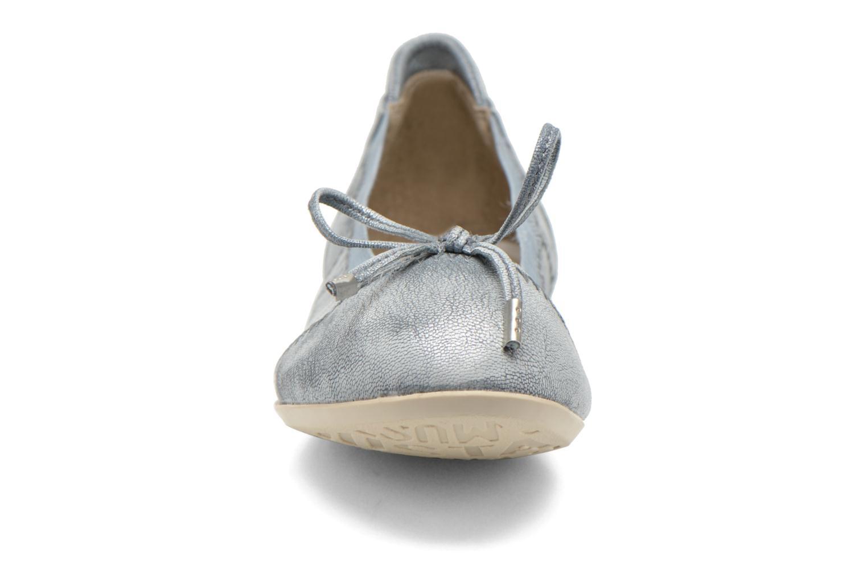 Ballerinas Mustang shoes Leah blau schuhe getragen