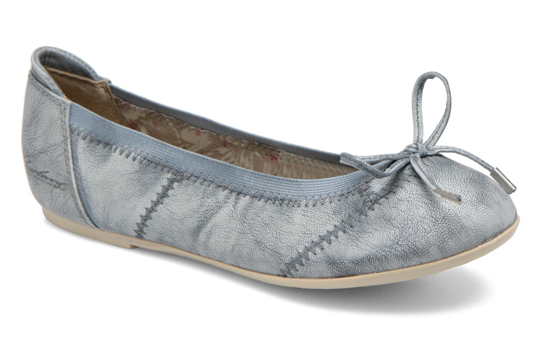 Ballerines Mustang shoes Leah Bleu vue détail/paire
