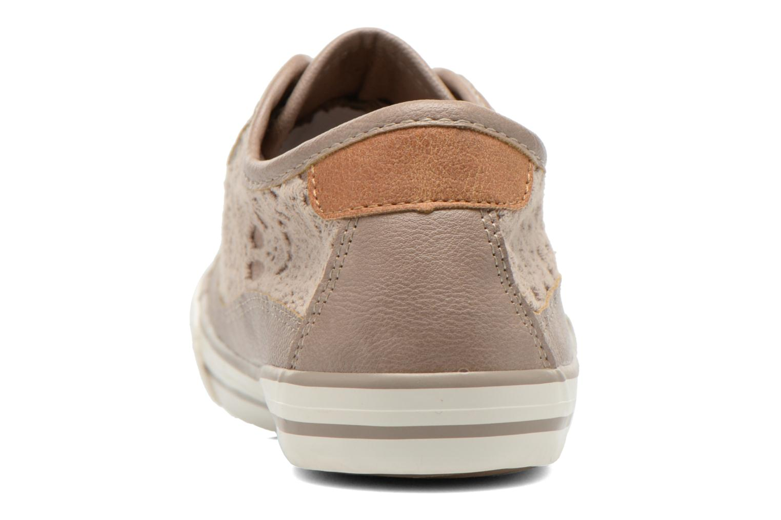 Trainers Mustang shoes Hannah Beige view from the right