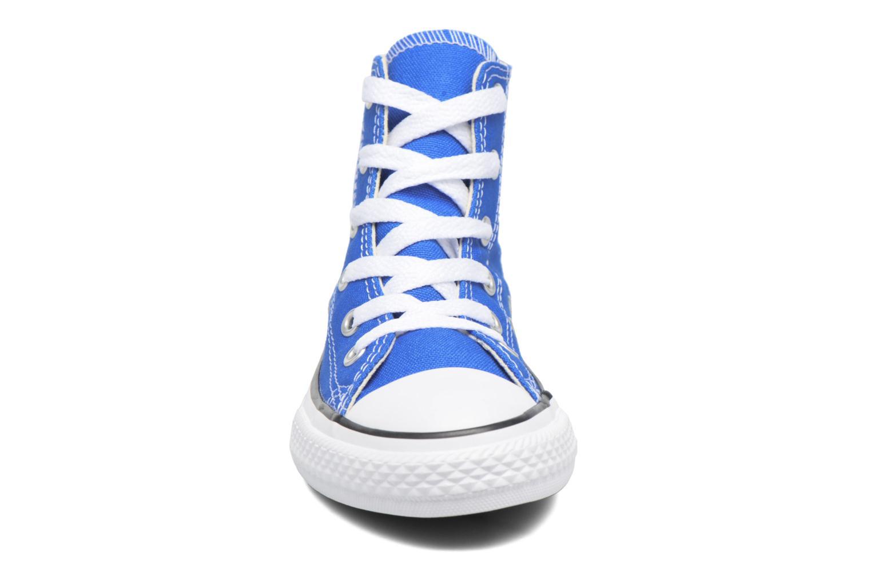 Sneaker Converse Chuck Taylor All Star Hi blau schuhe getragen