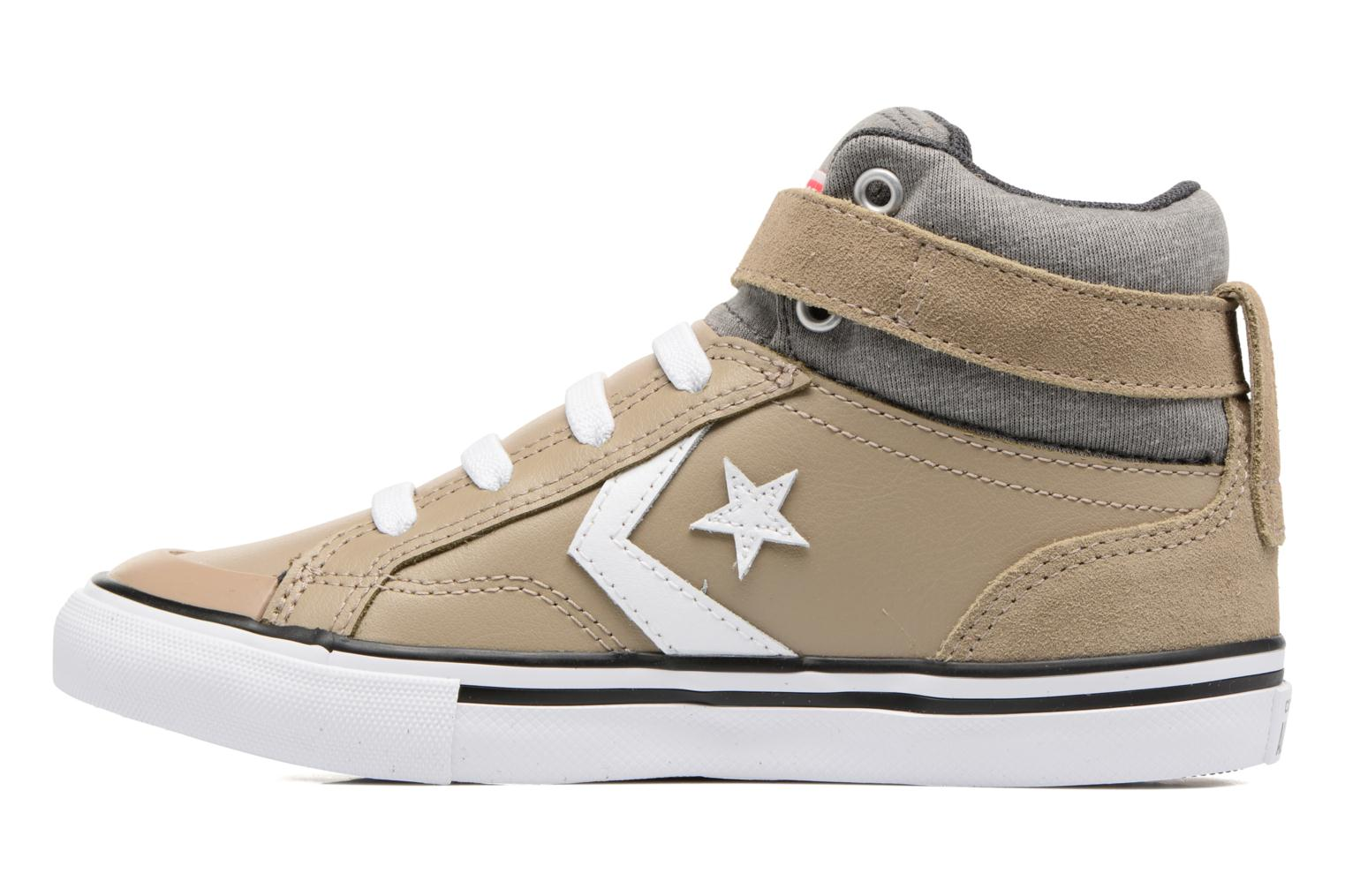 Trainers Converse Pro Blaze Strap Stretch Hi Sport Leather Beige front view