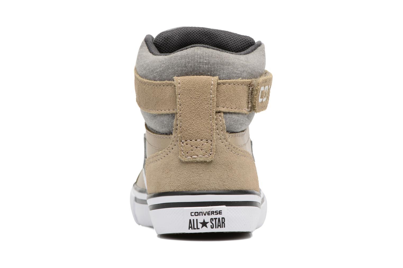Baskets Converse Pro Blaze Strap Stretch Hi Sport Leather Beige vue droite