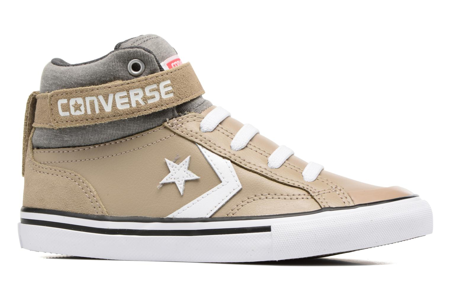 Wolf Grey/Storm Wind/White Converse Pro Blaze Strap Stretch Hi Sport Leather (Gris)