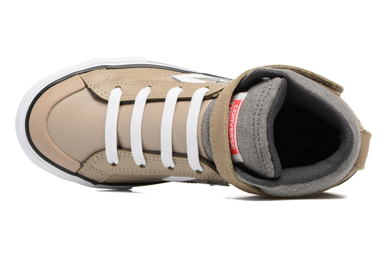 Baskets Converse Pro Blaze Strap Stretch Hi Sport Leather Beige vue gauche