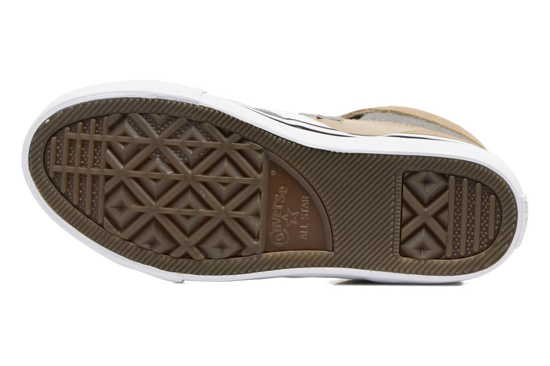 Baskets Converse Pro Blaze Strap Stretch Hi Sport Leather Beige vue haut