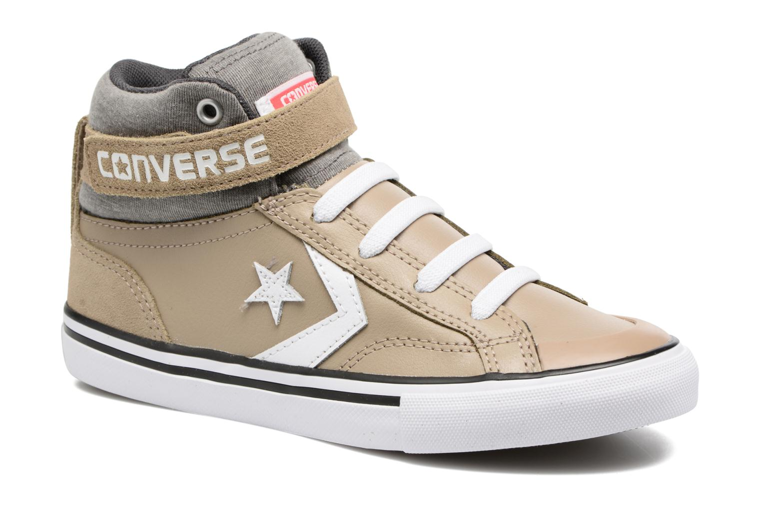 Trainers Converse Pro Blaze Strap Stretch Hi Sport Leather Beige detailed view/ Pair view