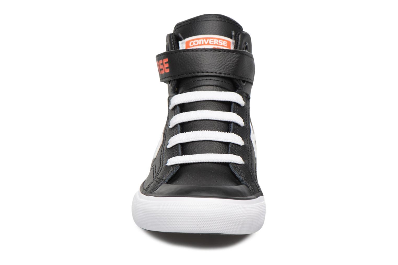 Baskets Converse Pro Blaze Strap Stretch Hi Sport Leather Noir vue portées chaussures