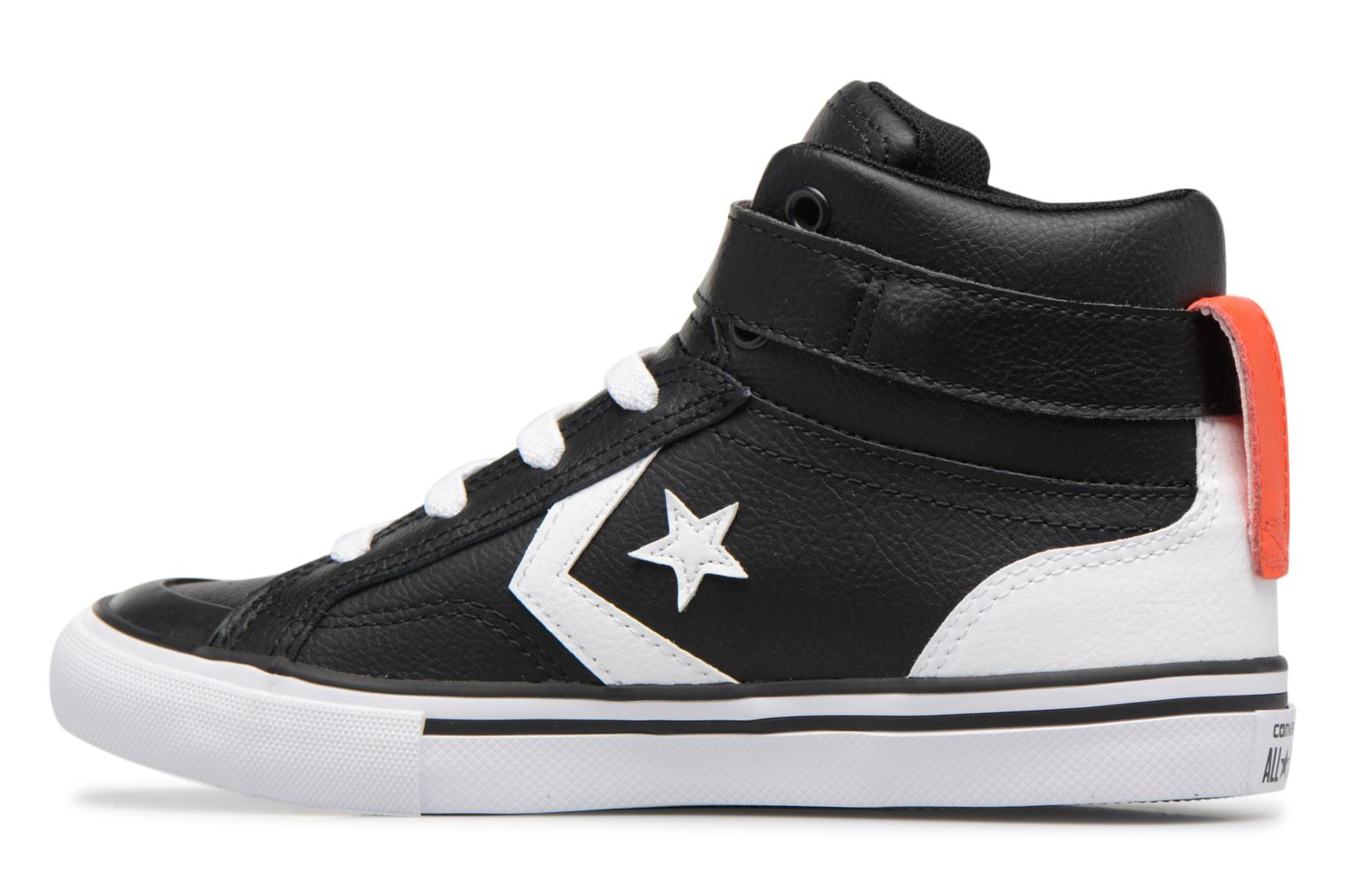 Wolf Grey/White/Hyper Royal Converse Pro Blaze Strap Stretch Hi Sport Leather (Gris)