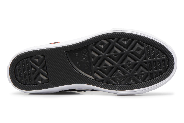 Baskets Converse Pro Blaze Strap Stretch Hi Sport Leather Noir vue haut