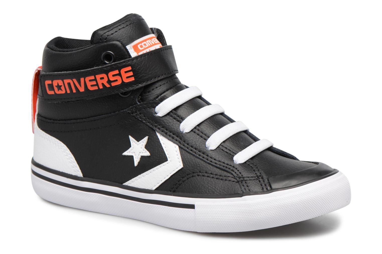 Baskets Converse Pro Blaze Strap Stretch Hi Sport Leather Noir vue détail/paire