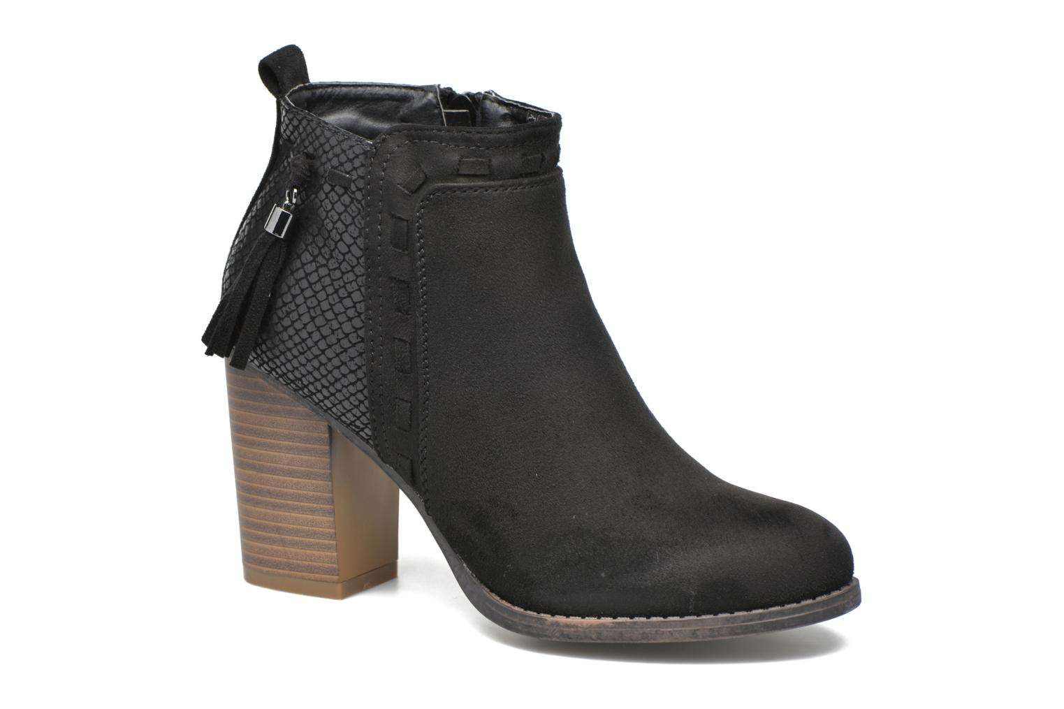 Ankle boots I Love Shoes THANSE Black detailed view/ Pair view