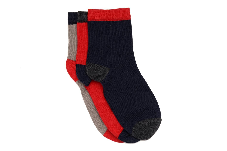 Chaussettes enfant Pack de 3 coton Rougegrismarinechine
