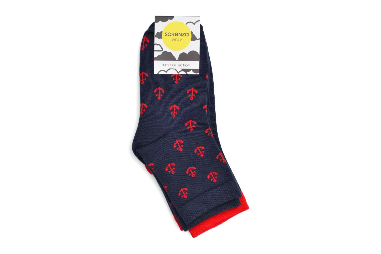 Chaussettes et collants Sarenza Wear Chaussettes Boys Pack de 2 Rouge vue portées chaussures