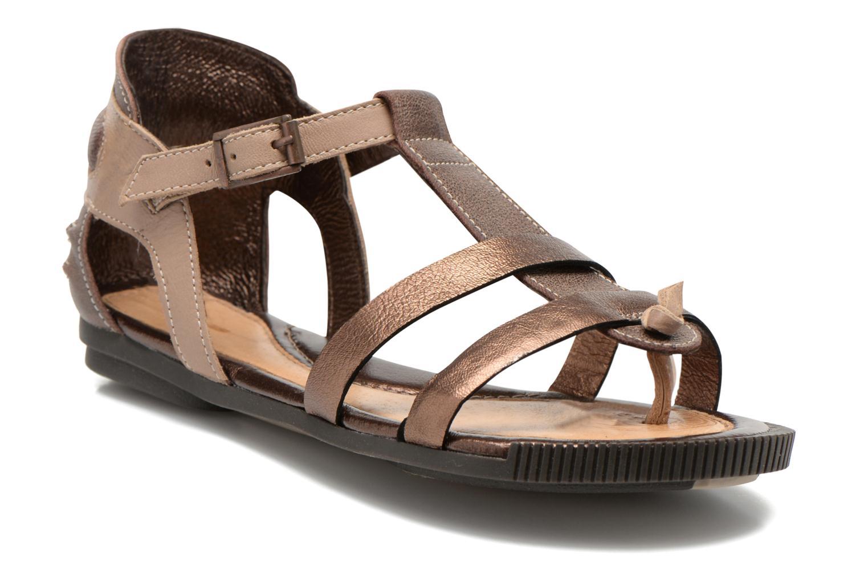 Sandales et nu-pieds Pataugas Caro F Marron vue détail/paire