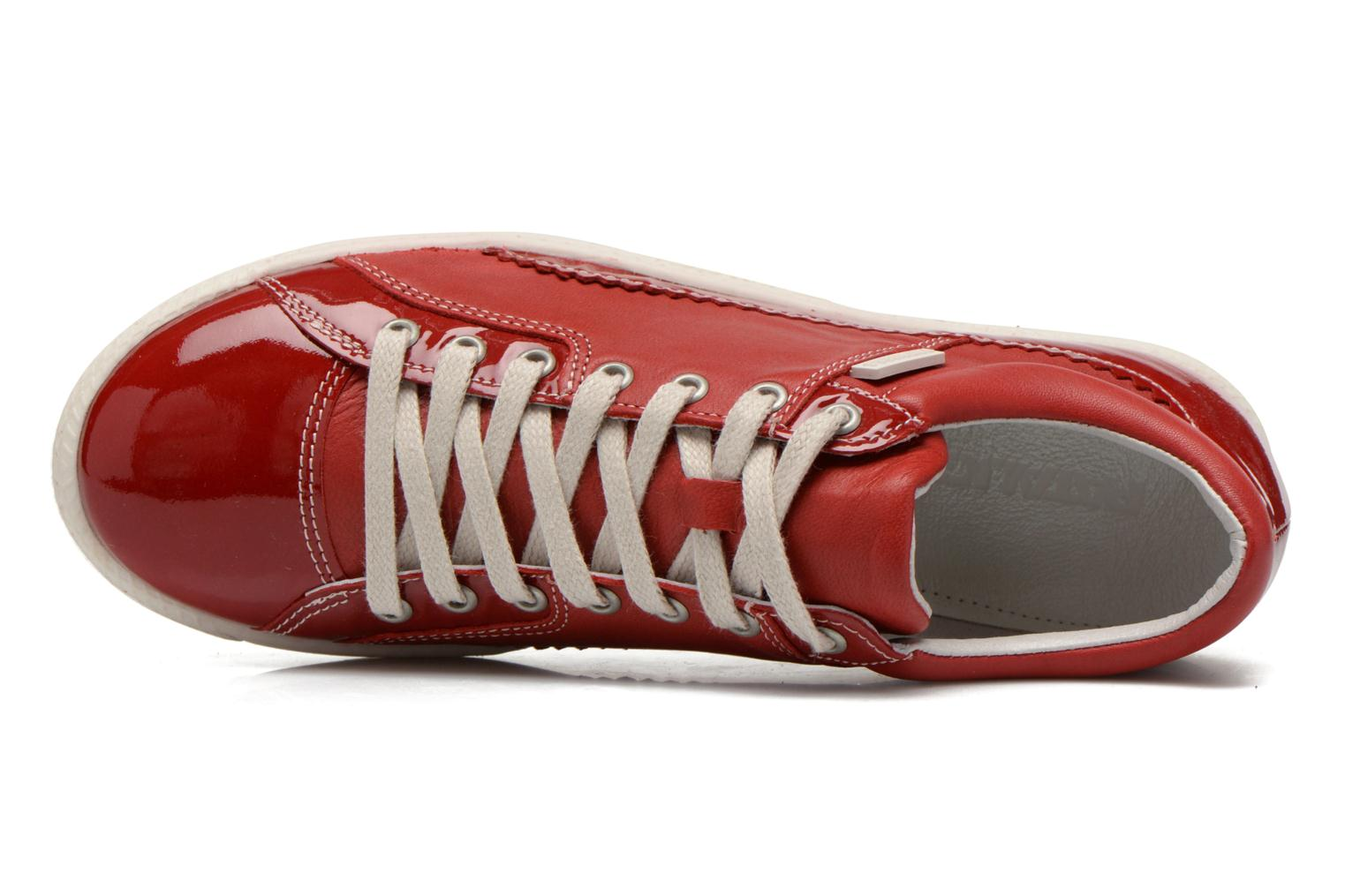 Trainers Pataugas Joka V Red view from the left