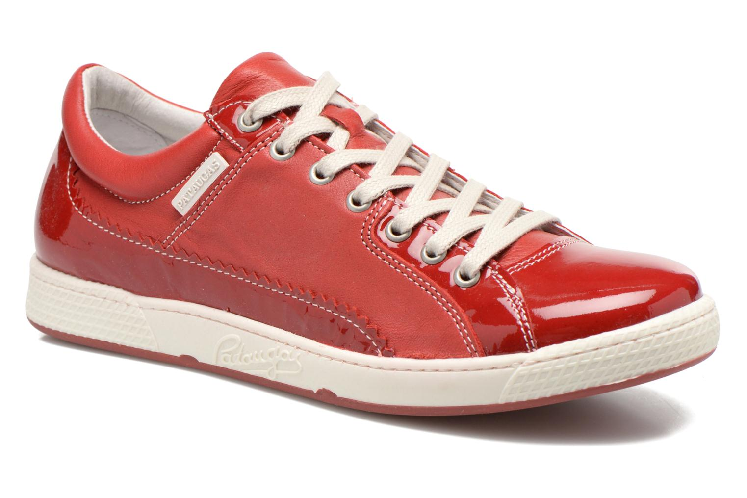 Trainers Pataugas Joka V Red detailed view/ Pair view