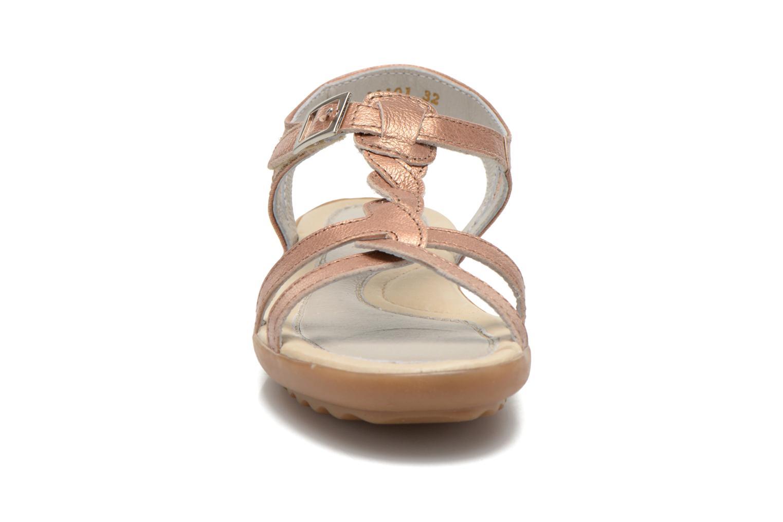 Sandales et nu-pieds Pataugas Claire J Rose vue portées chaussures