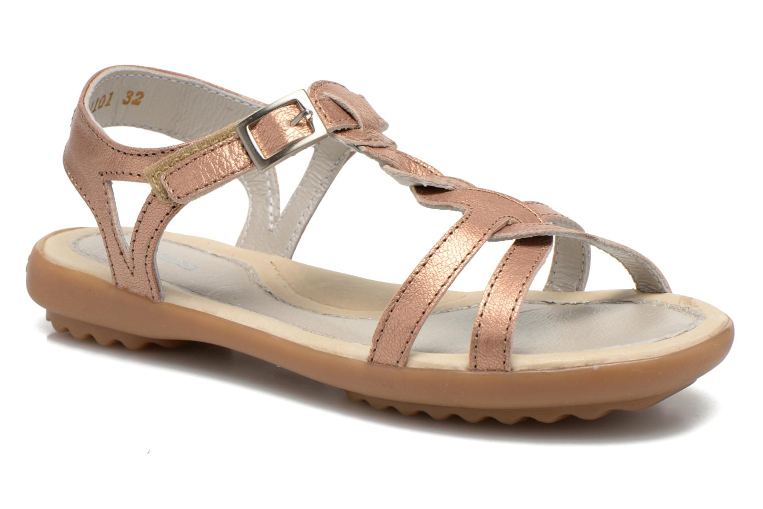 Sandals Pataugas Claire J Pink detailed view/ Pair view