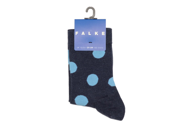 Chaussettes et collants Falke Socquettes Enfant Coton Spotted SO Bleu vue portées chaussures