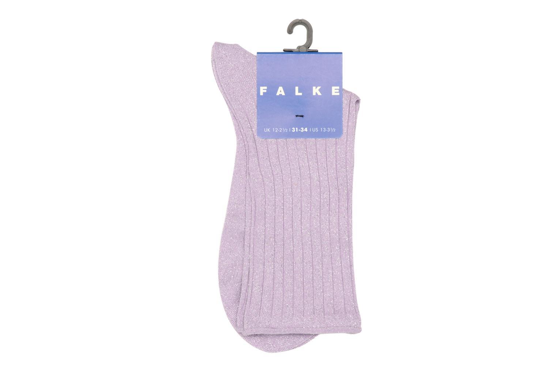 Chaussettes et collants Falke Socquettes GLITTER Violet vue derrière