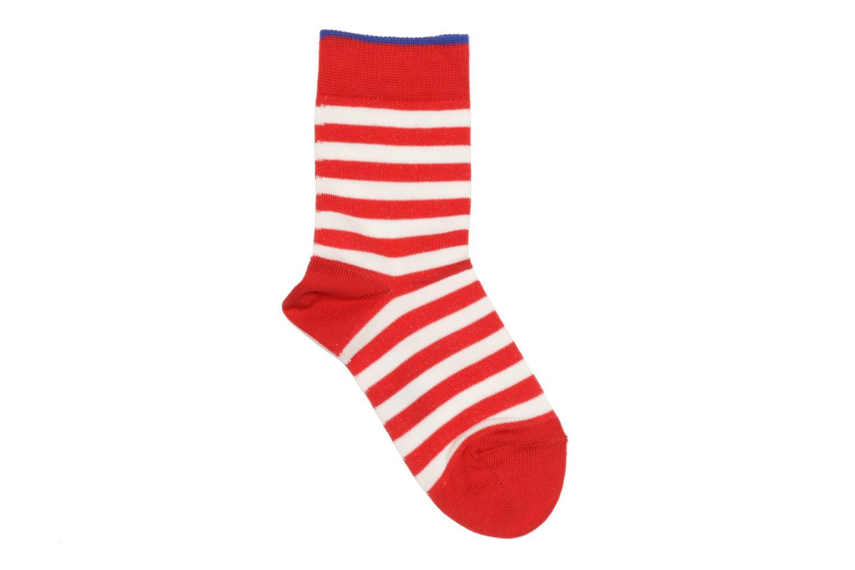 Socks DOUBLE STRIPE 8074 Red pepper