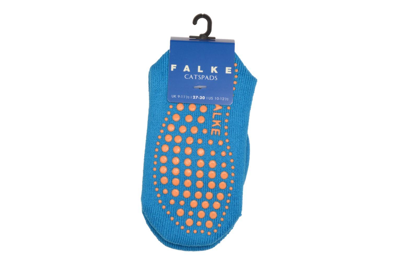 Calze e collant Falke Chaussons-chaussettes Enfant Coton Anti-dérapant Catspads SO Azzurro modello indossato