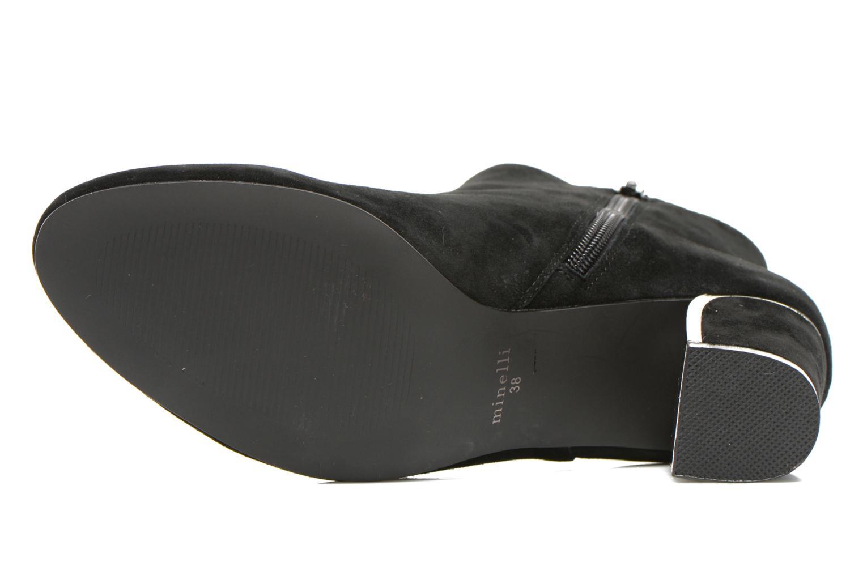 Bottines et boots Minelli F80 721/VEL Noir vue haut
