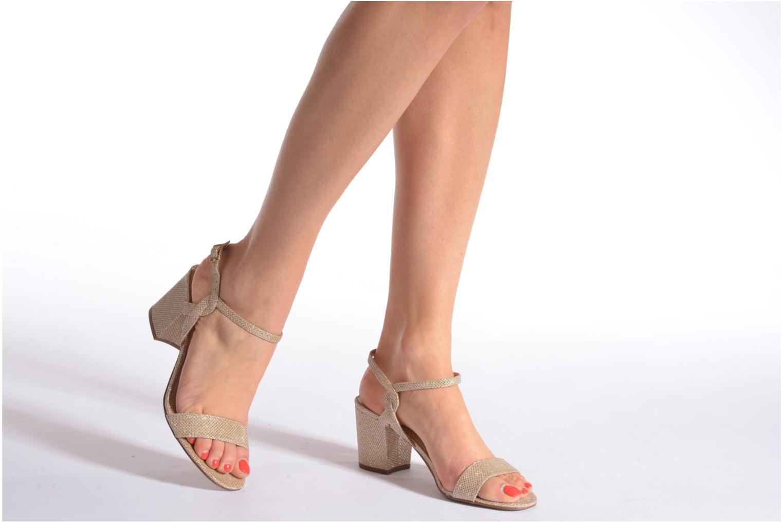 Sandales et nu-pieds Minelli F93 817/GLI Or et bronze vue bas / vue portée sac