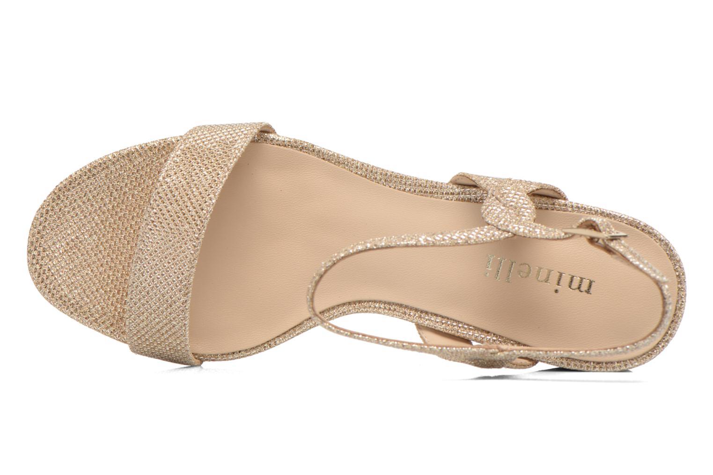 Sandales et nu-pieds Minelli F93 817/GLI Or et bronze vue gauche