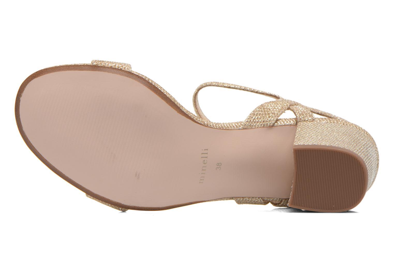 Sandales et nu-pieds Minelli F93 817/GLI Or et bronze vue haut