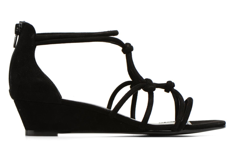 Sandales et nu-pieds Minelli F63 820/VEL Noir vue derrière