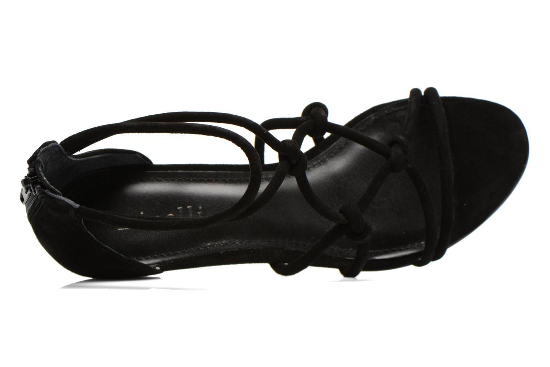 Sandales et nu-pieds Minelli F63 820/VEL Noir vue gauche